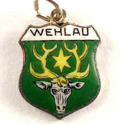 Bettelarmband Alt Emaille Silber 800 Das Beste Wappen Anhänger Landshut